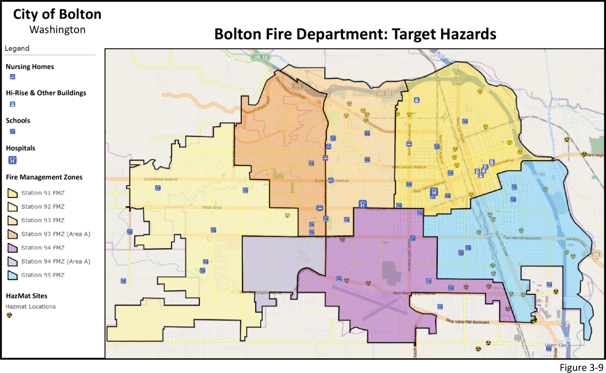 Figure 3-9: Map of target hazards.